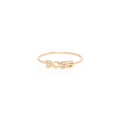 Zoë Chicco 14kt Yellow Gold Itty Bitty BOSS Ring