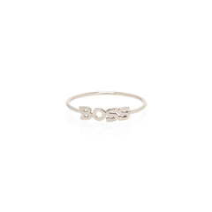 Zoë Chicco 14kt White Gold Itty Bitty BOSS Ring