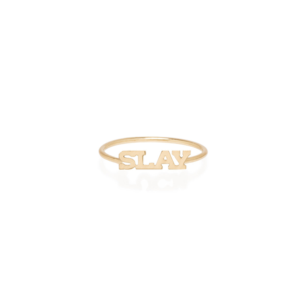 Zoë Chicco 14kt Yellow Gold Itty Bitty SLAY Ring