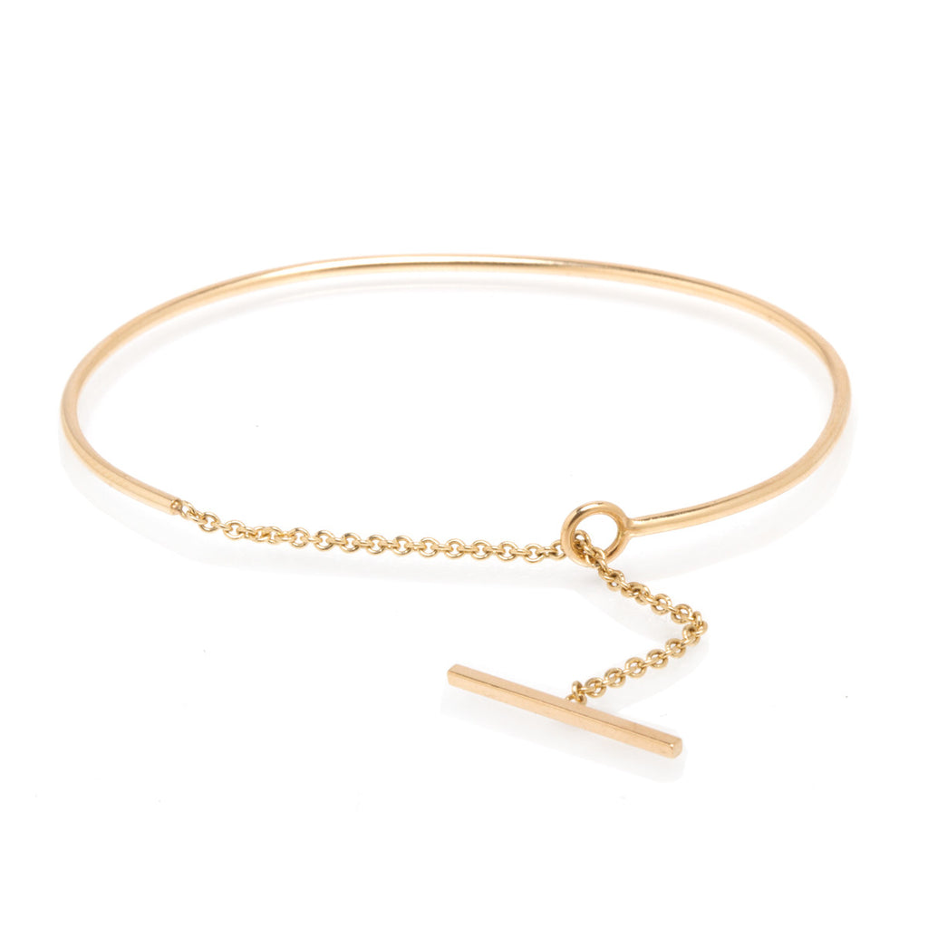 14k toggle chain wire bracelet