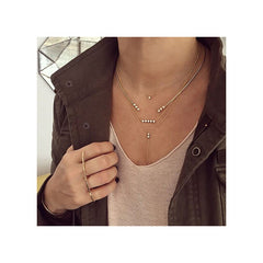 14k princess diamond duo lariat necklace
