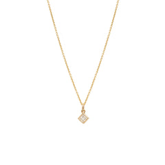 14k princess cut diamond choker necklace