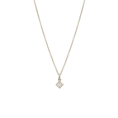 14k large princess diamond choker necklace
