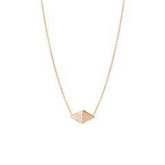 14k flat pave diamond necklace
