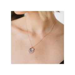 14k Total Eclipse Medium Sun, Moon & Star Charm Necklace