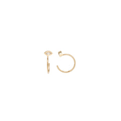 14k marquis diamond reversible hoops
