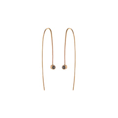 14k black diamond wire earrings