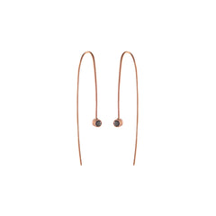 Zoë Chicco 14kt Rose Gold Black Diamond Wire Earrings