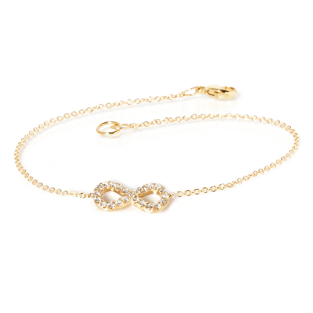 gold filled ankle charm pin anklet bracelet infinity