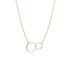 14k tiny mixed circles necklace