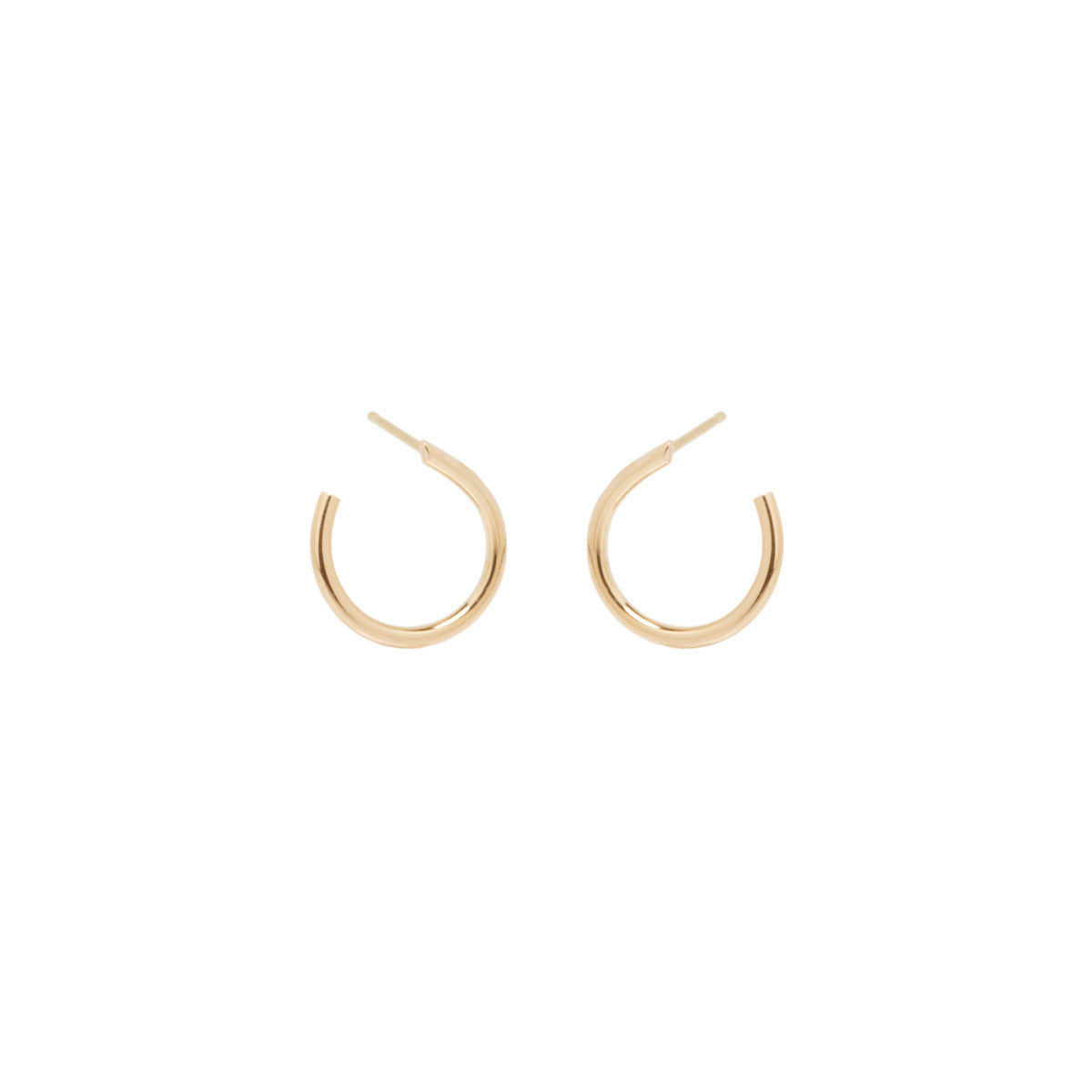 Zoë Chicco 14kt Yellow Gold Front to Back Small Hoop Earrings