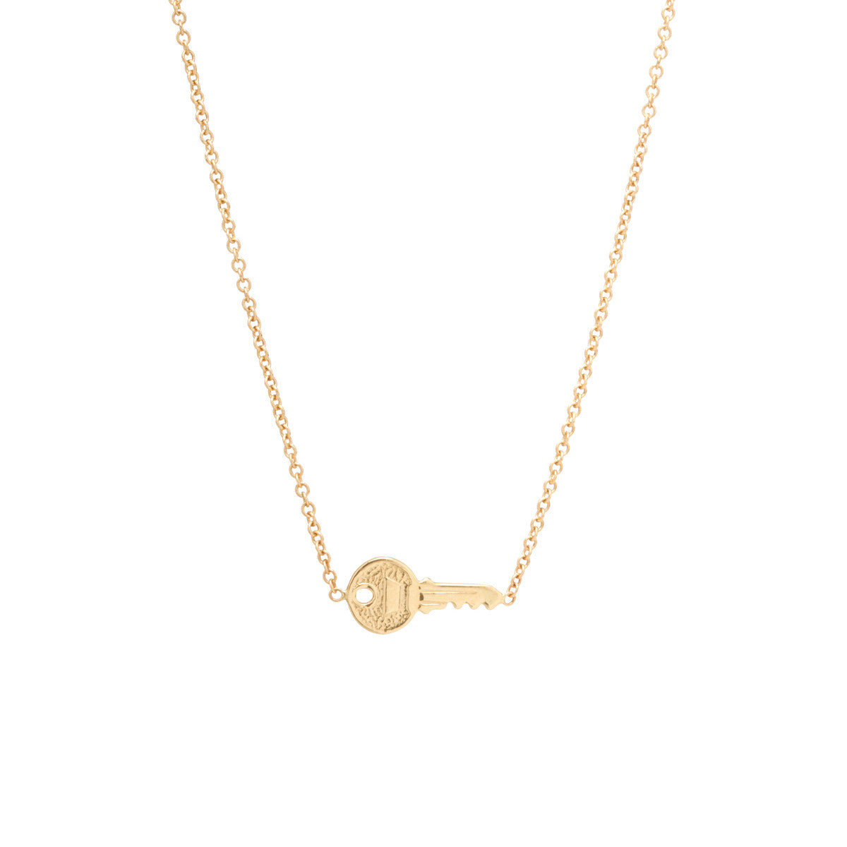 Zoë Chicco – 14k tiny key necklace