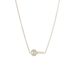 14k tiny key necklace