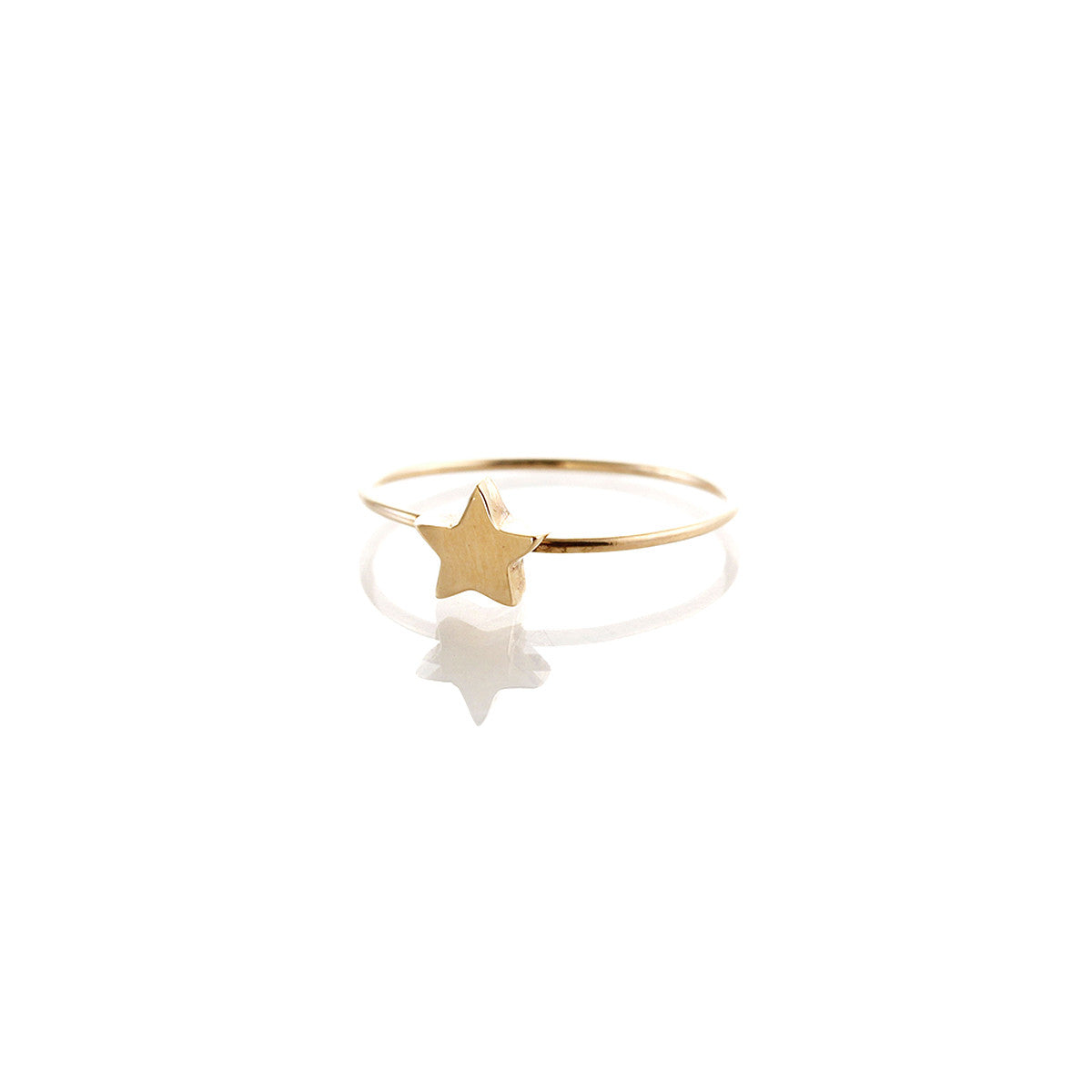 14k tiny star ring