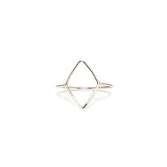 14k diamond shape outline ring