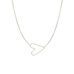 tiny hammered heart choker necklace