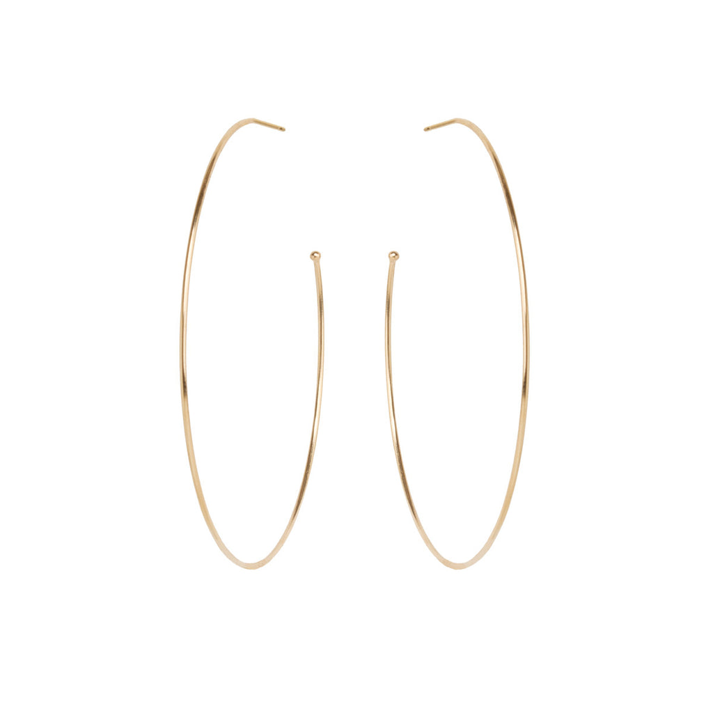 14k extra large hoops