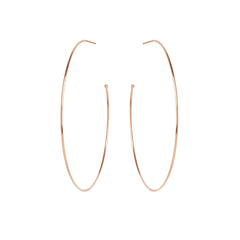 Zoë Chicco 14kt Rose Gold Extra Large Hoop Earrings