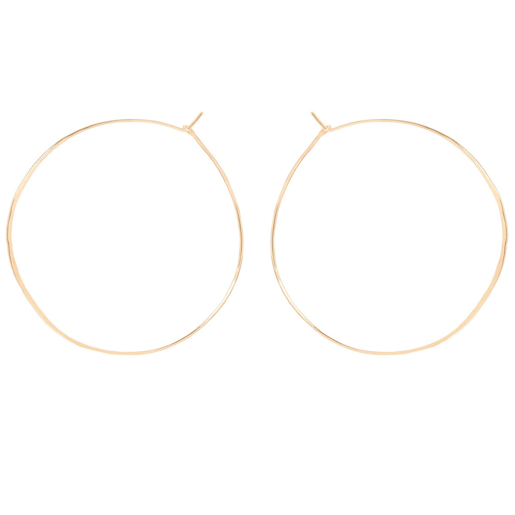 Zoë Chicco 14kt Yellow Gold Extra Large Hammered Hoop Earrings