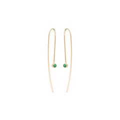 Zoë Chicco 14kt Yellow Gold Emerald Wire Earrings