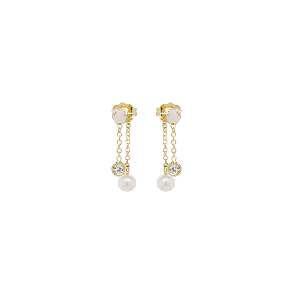20x20 | Zoe Chicco | Rachel Pally | Opal, Diamond & Pearl Drop Earrings