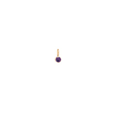 14k single amethyst charm pendant | February Birthstone