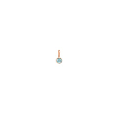 14k single aquamarine charm pendant