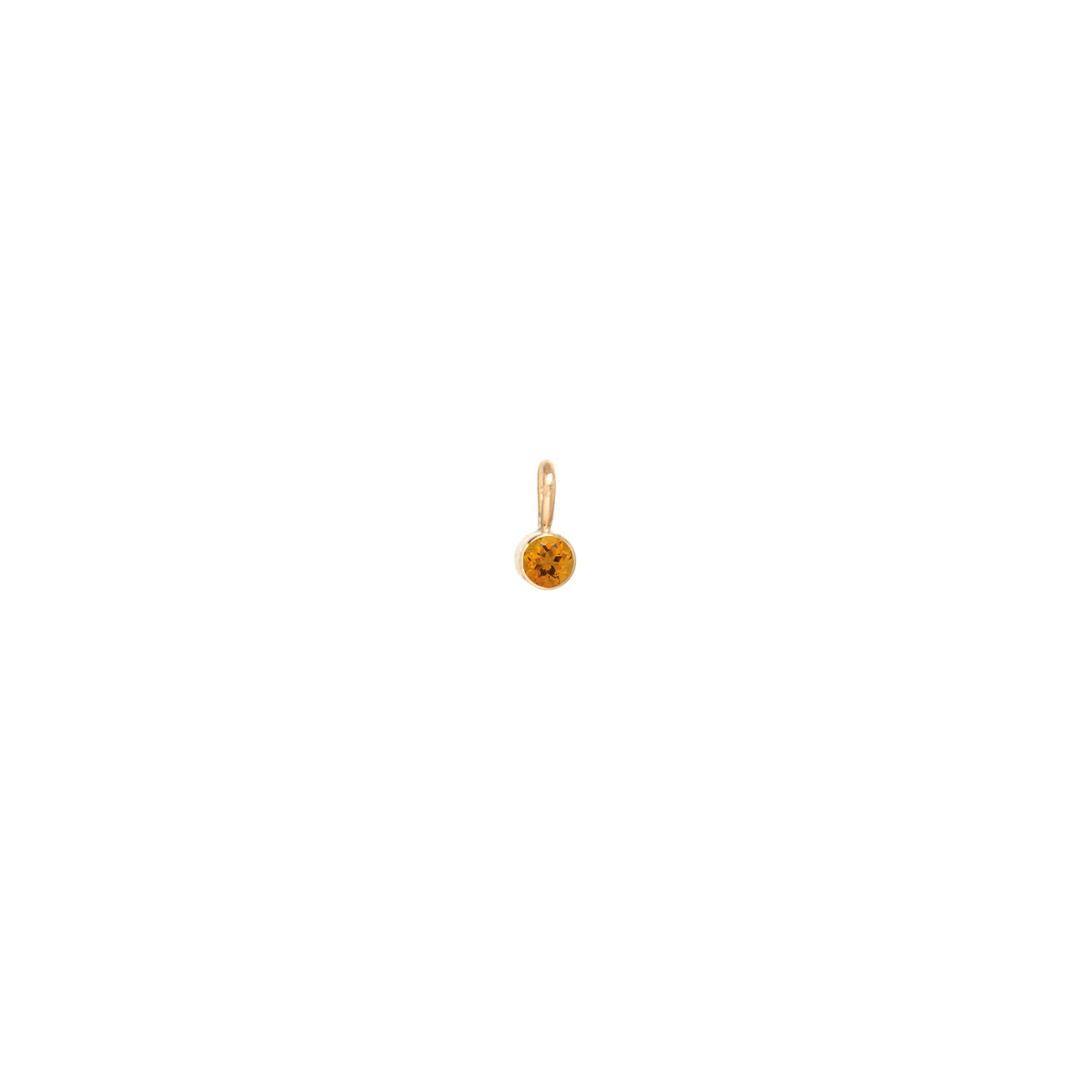 14k single citrine charm | November Birthstone