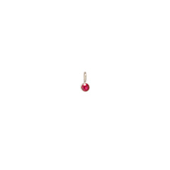 14k single ruby charm pendant
