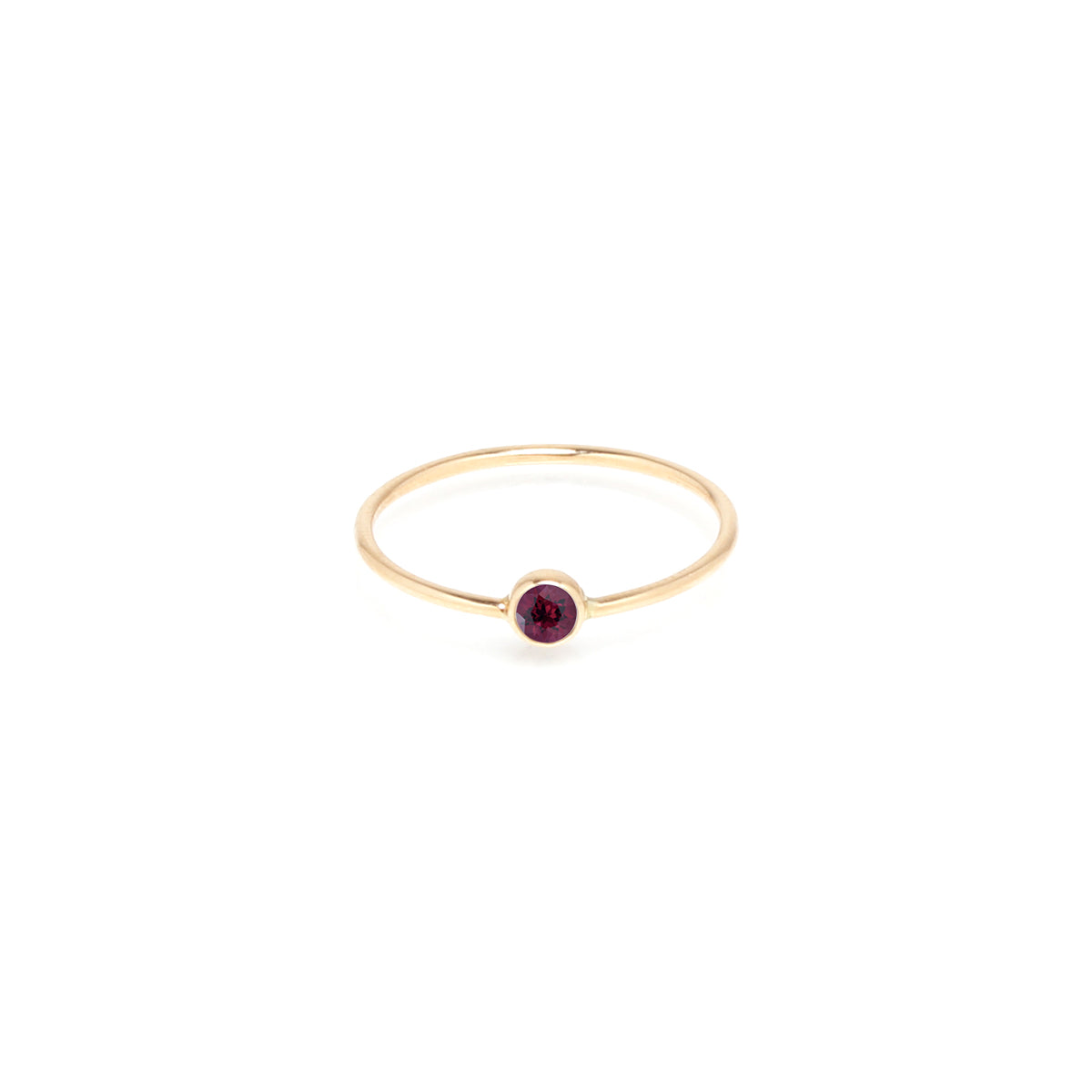 14k garnet bezel ring | January BIRTHSTONE