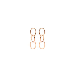 Zoë Chicco 14kt Rose Gold 3 Chain Link Earrings