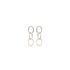 Zoë Chicco 14kt White Gold 3 Chain Link Earrings