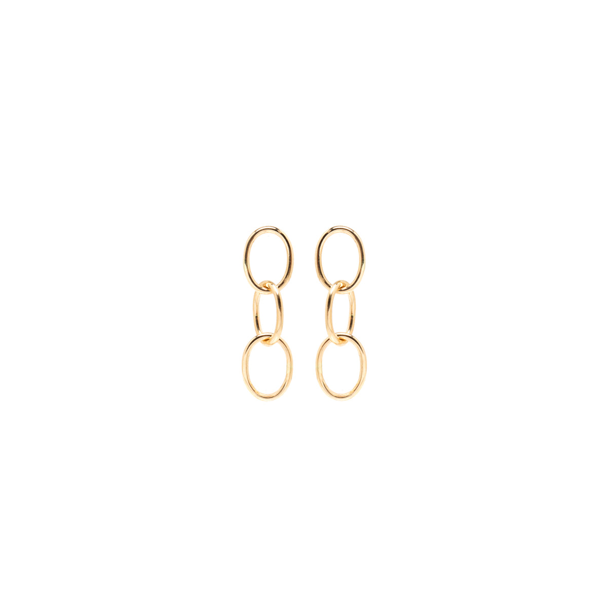 Zoë Chicco 14kt Yellow Gold 3 Chain Link Earrings