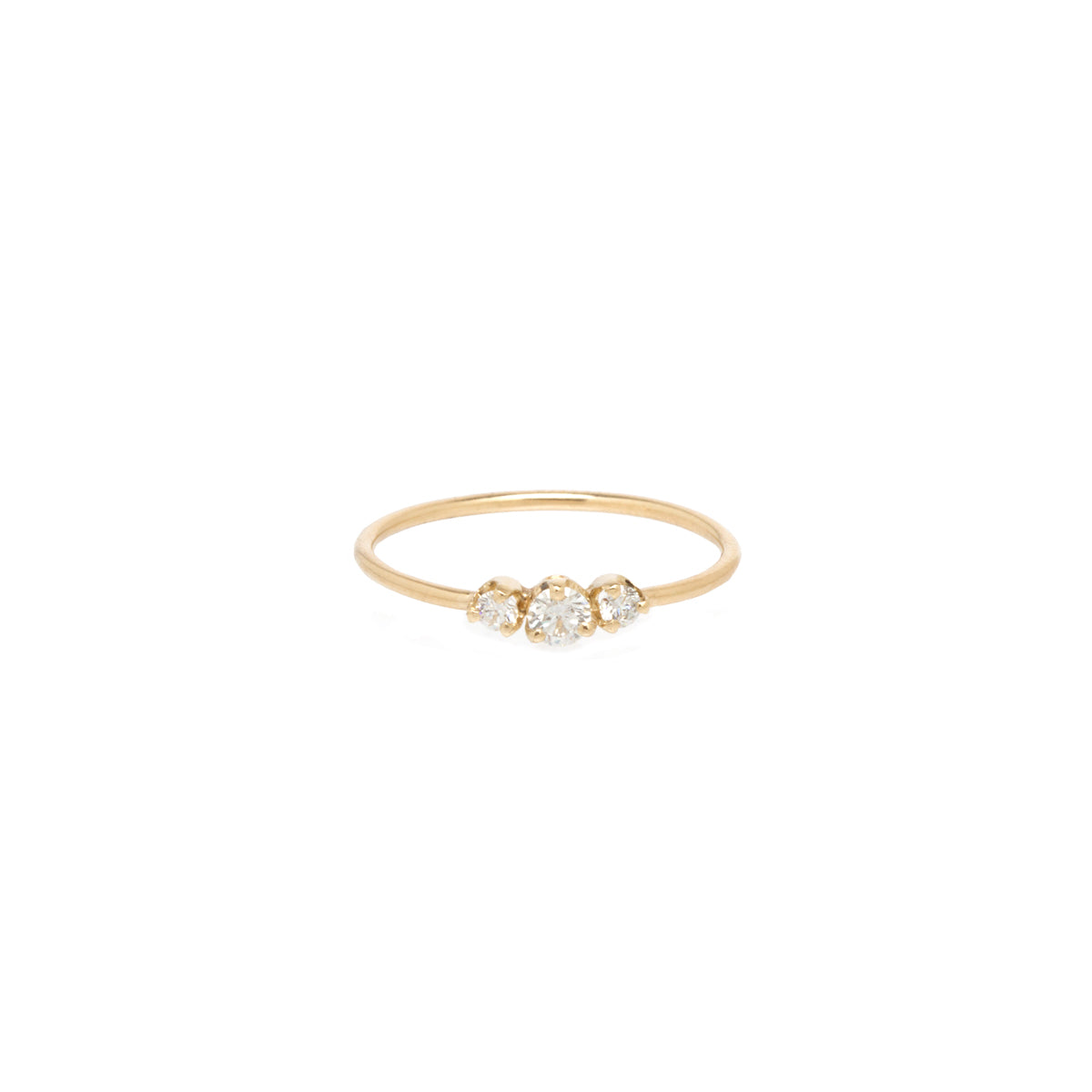 14k graduated 3 prong diamond ring