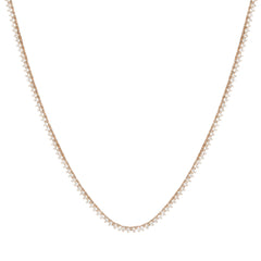 14k prong diamond tennis necklace