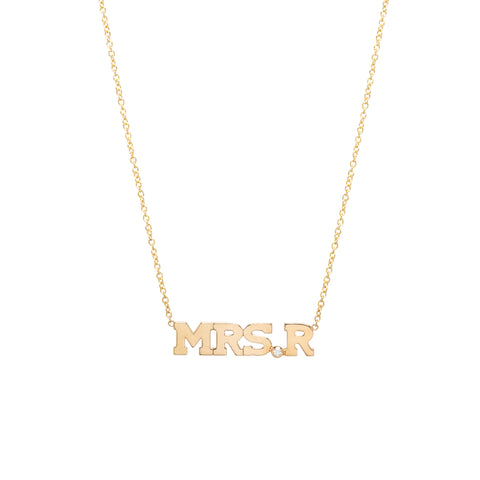 231c1f22eb1645 Zoë Chicco – 14k MRS initial necklace