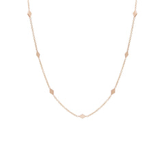 Zoë Chicco 14kt Rose Gold 7 Diamond Shape Choker Necklace