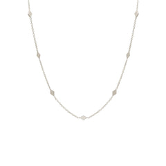 Zoë Chicco 14kt White Gold 7 Diamond Shape Choker Necklace