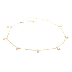 Zoë Chicco 14kt Yellow Gold Itty Bitty 7 Dangling Stars Bracelet