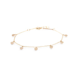 Zoë Chicco 14kt Yellow Gold 7 Itty Bitty Round Disc Charm Bracelet