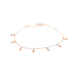 Zoë Chicco 14kt Rose Gold 7 Itty Bitty Tear Charm Bracelet