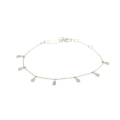 Zoë Chicco 14kt White Gold 7 Itty Bitty Tear Charm Bracelet
