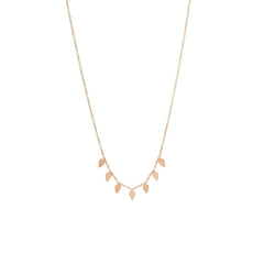 Zoë Chicco 14kt Rose Gold 7 Itty Bitty Tear Necklace