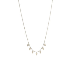 Zoë Chicco 14kt White Gold 7 Itty Bitty Tear Necklace
