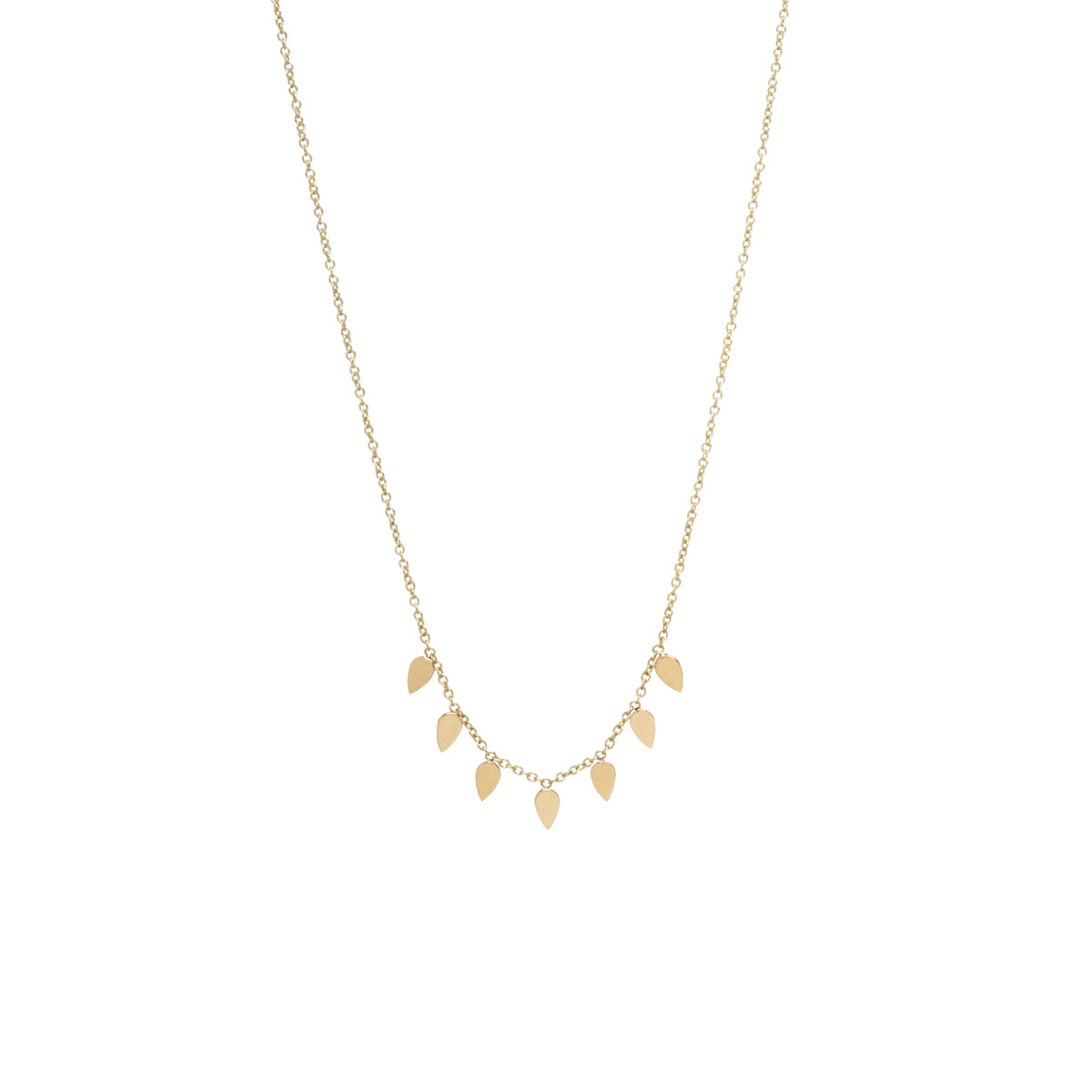 Zoë Chicco 14kt Yellow Gold 7 Itty Bitty Tear Necklace