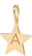 14k medium initial star charm pendant