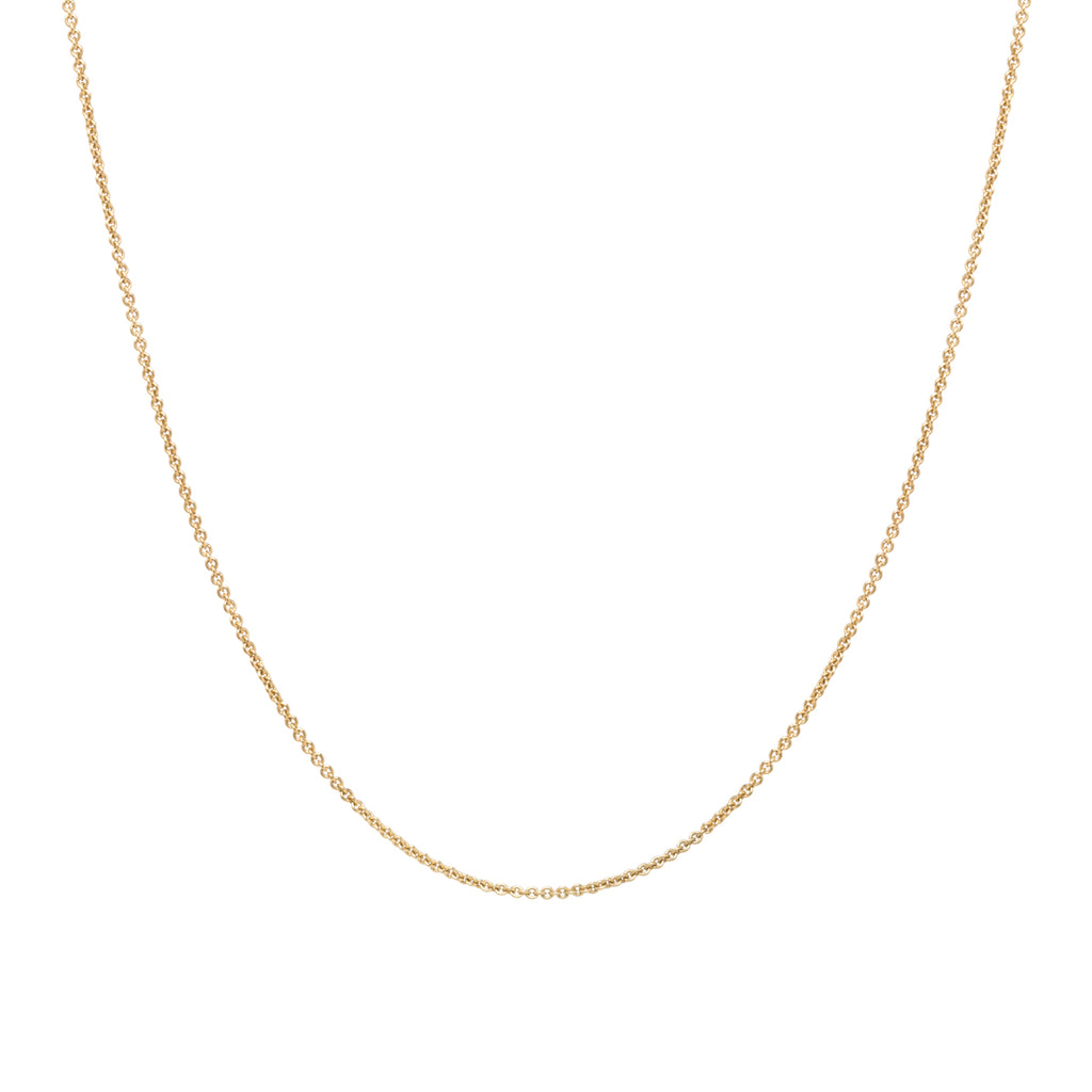 14k thicker cable chain necklace