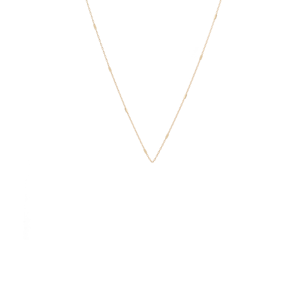 14k tiny bar cable chain