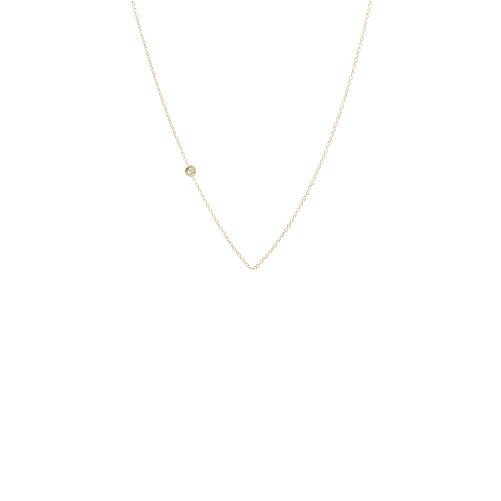14k small floating diamond chain