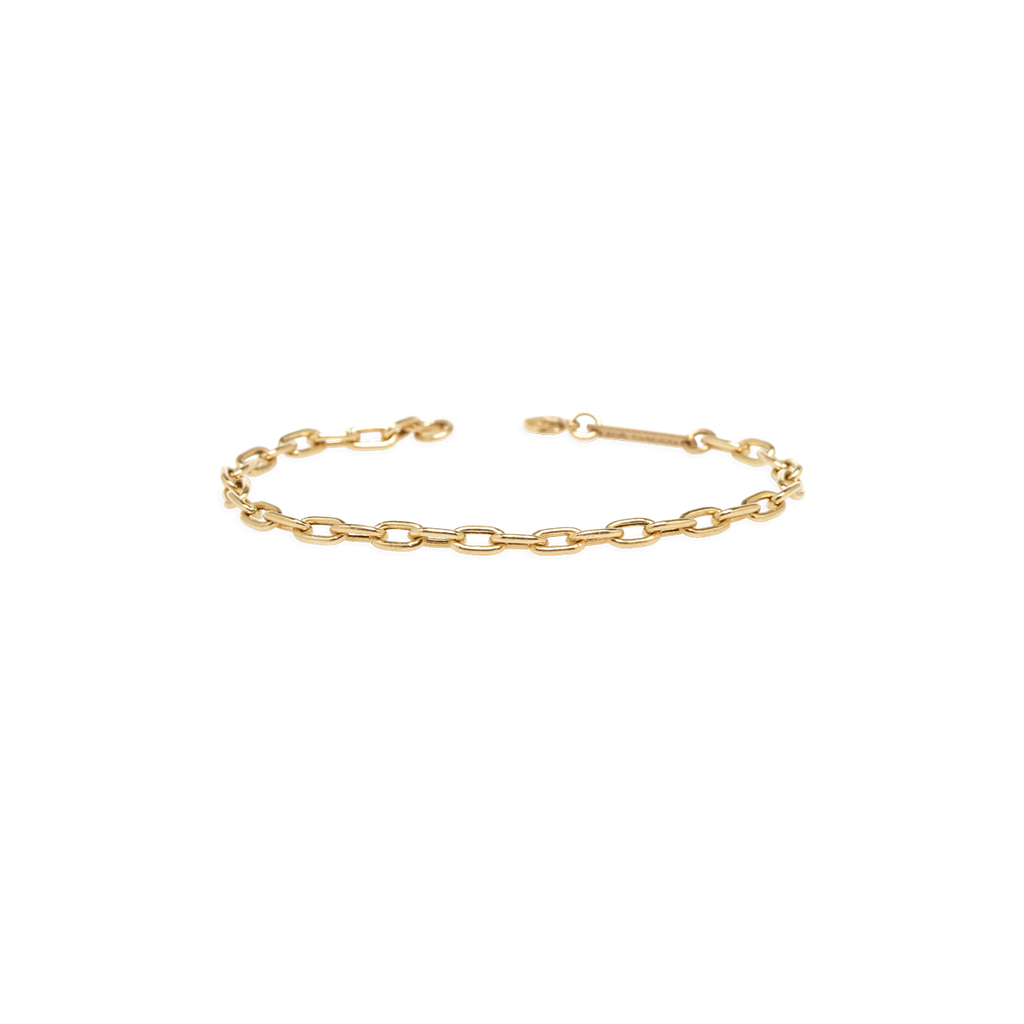 14k medium square link chain bracelet